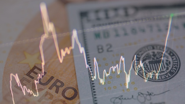 Concept of the money trading and exchange