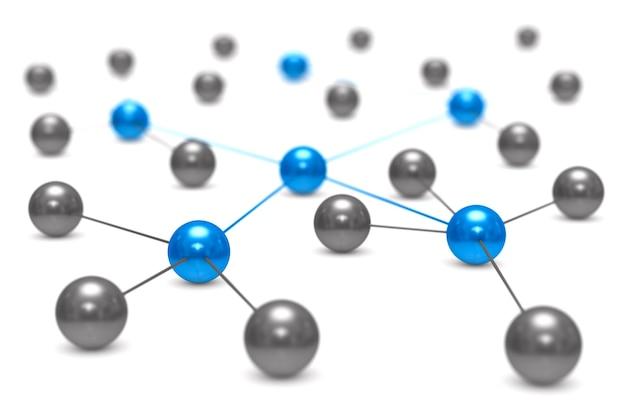 Концепция сети на белом