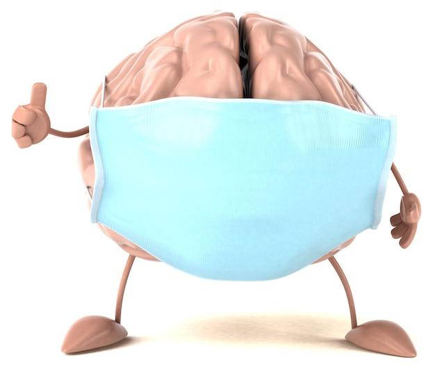 Концепция мозга с маской