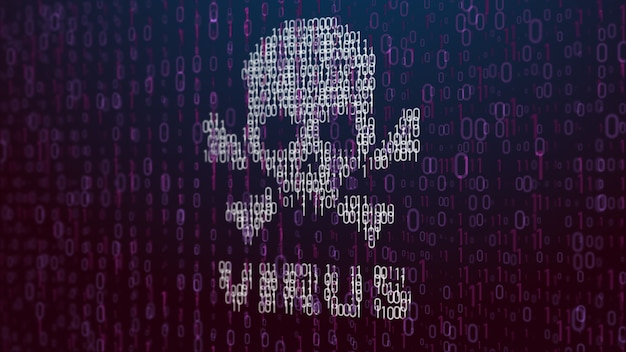Концепция знака компьютерного вируса на жк-экране