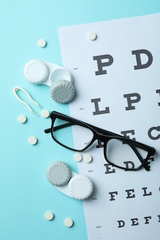 Концепция контактных линз для глаз, здравоохранения