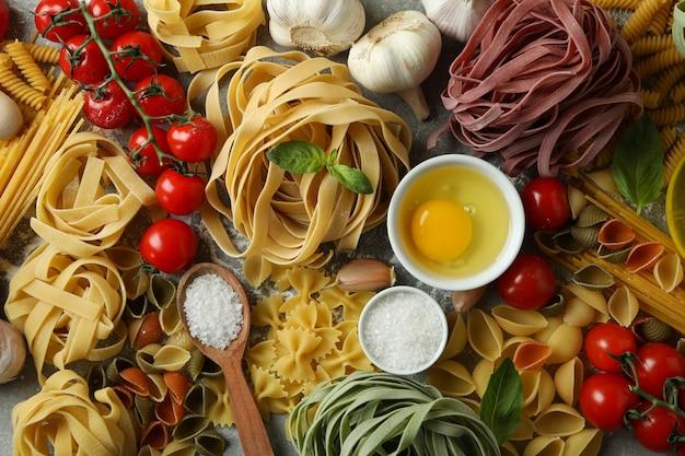おいしいパスタ料理のコンセプト、上面図