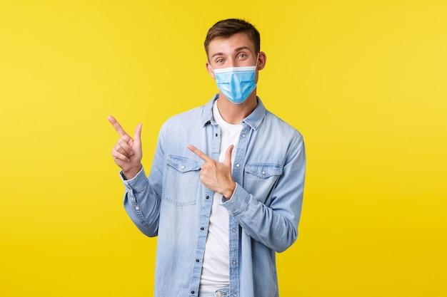 Концепция образа жизни при вспышке пандемии коронавируса во время социального дистанцирования красавца и счастья ...