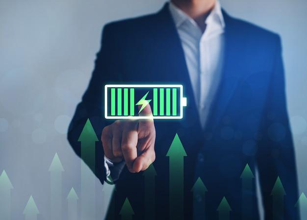 Концепция развития и роста экологической энергии во всем мире. инвестиции в зеленый бизнес.