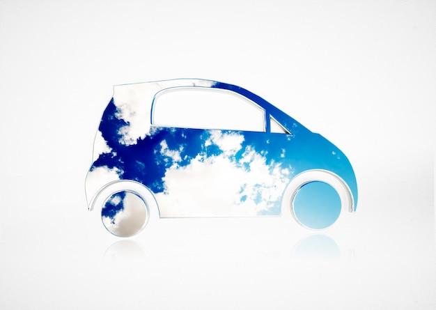 Концепция экологически чистого транспорта. 3d иллюстрации.