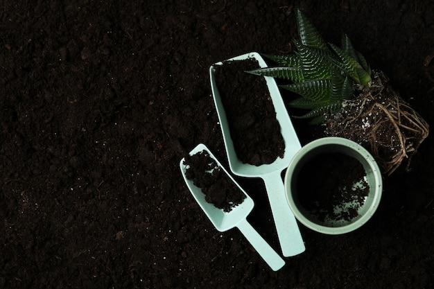 토양 배경, 평면도에 원예의 개념