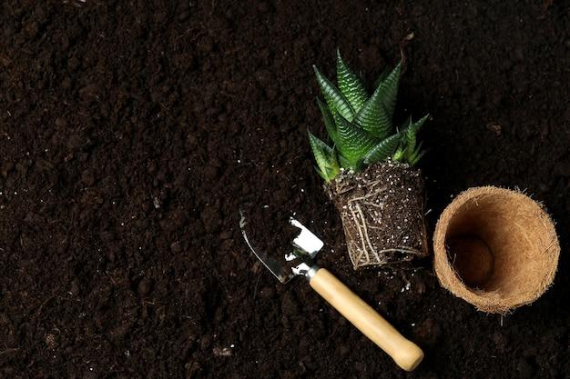 토양, 평면도에 원예의 개념
