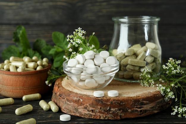 Понятие о таблетках фитотерапии на деревянных