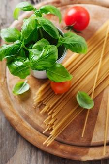 パスタとイタリア料理のコンセプト