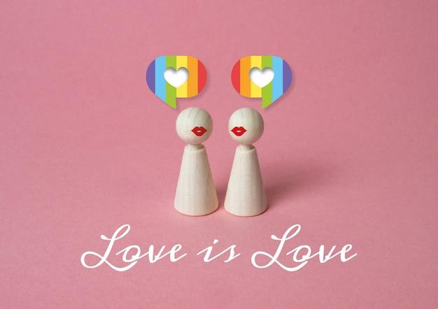 同性の人々の間の愛の概念