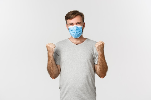 パンデミック、コロナウイルス、社会距離拡大の概念。