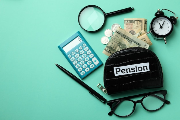 ミントの背景にある年金または退職金制度の概念