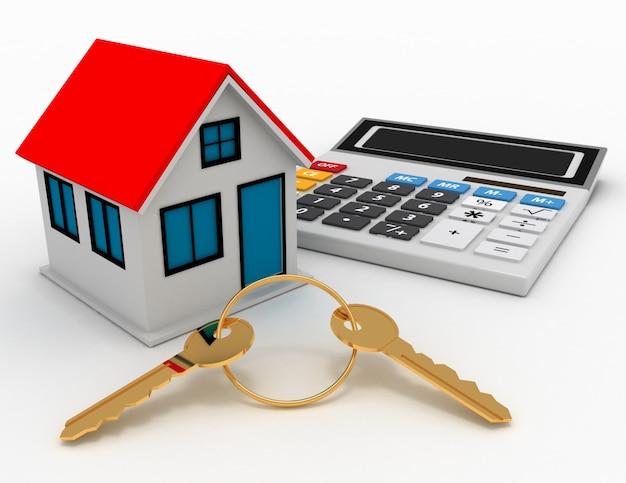 Понятие о недвижимости. 3d иллюстрация