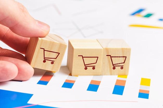 Концепция отчетов и диаграмм для продаж и прибылей.