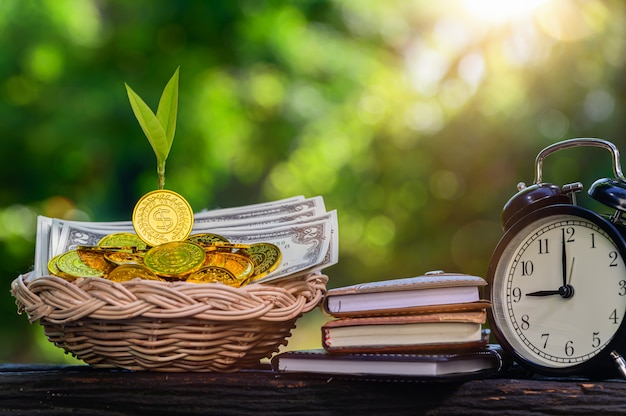 将来のためのお金の節約の概念