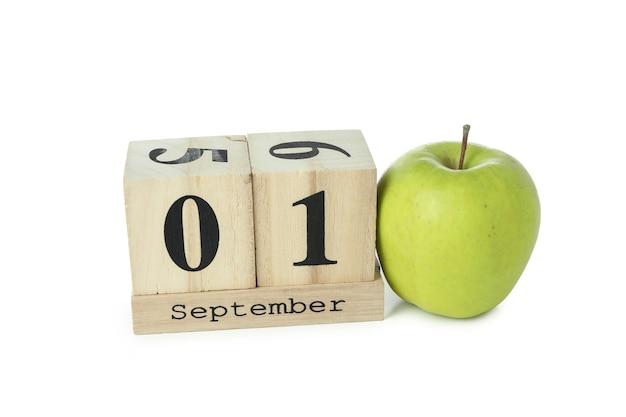 Концепция 1 сентября, изолированные на белом фоне