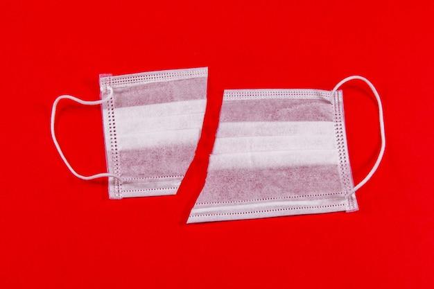 コロナウイルスの終わりの概念、covid-19、医療用マスク