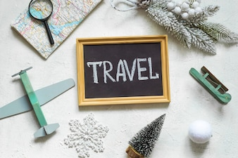 Concept of travel, vacation, winter holidays.