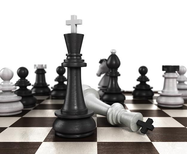 승리의 개념은 결과 매트가 플레이어가 흰색 체스를 플레이하도록 설정하는 정직한 방법이 아닙니다.