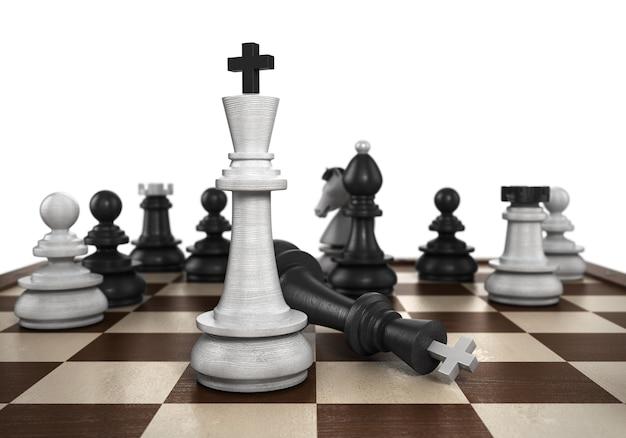 승리의 개념 결과 매트는 플레이어가 검은 체스를 두도록 설정