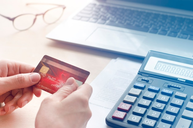 Concept of online payments, purchase, payment of bills