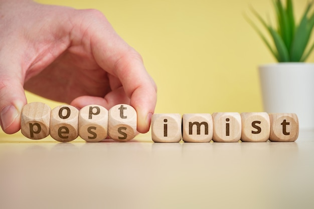 The concept of optimist and pessimist as antonym and change moods.