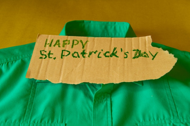 The concept of preparation for the celebration of st. patrick's day, green shirt