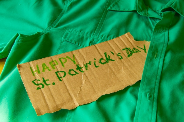 Concept of preparation for the celebration of st. patrick's day, green shirt