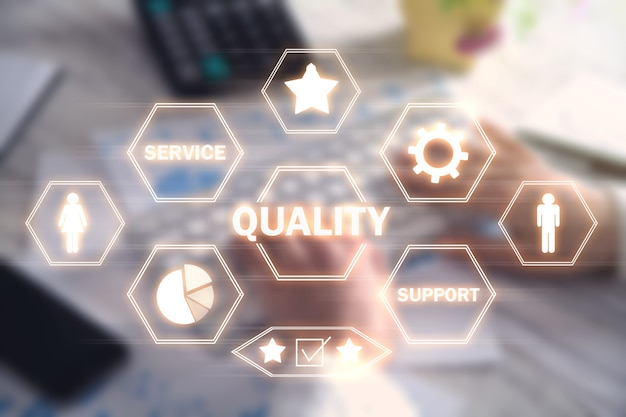 Concept of quality. internet, technology. business concept