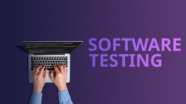 The concept of software testing in programs.