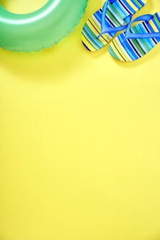 Concept summer yellow background