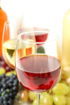 Concept of tasting different wine, close up and selective focus