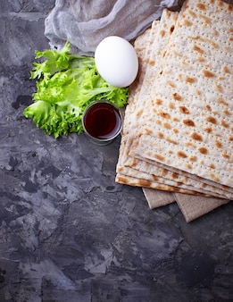 Concept of traditional jewish celebration passover seder