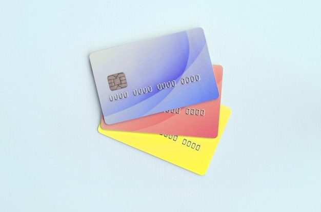 Concept of variety of banking services and bank card applications