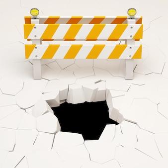 Conceptual 3d illustration of under construction