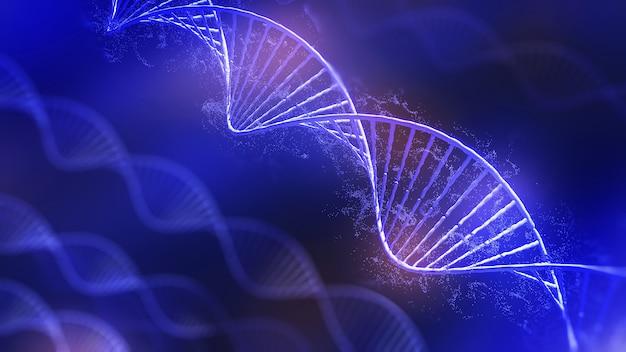 Dna構造の概念的な背景図lifednaの遺伝子編集技術