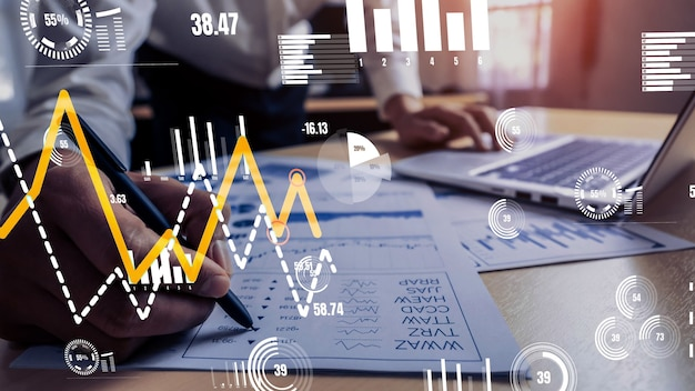 Conceptual business dashboard for financial data analysis