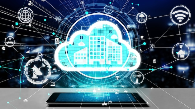 Conceptual cloud computing and data storage technology for future innovation