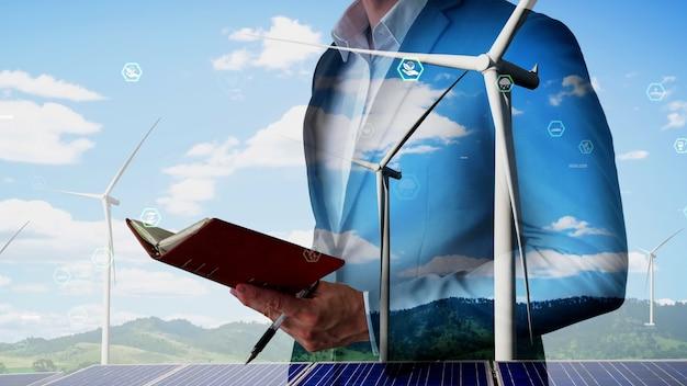 개념적 환경 보전 및 지속 가능한 esg 개발