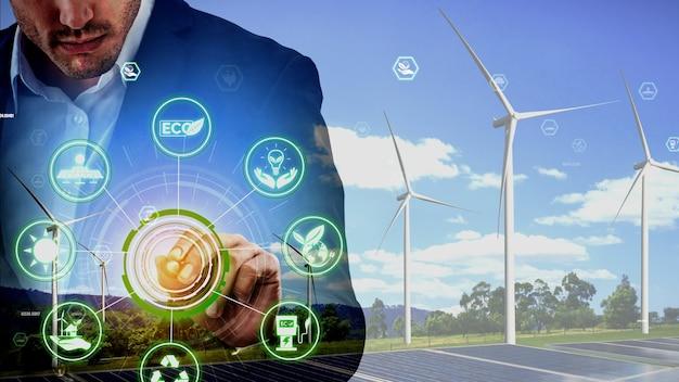 Концептуальное сохранение окружающей среды и устойчивое развитие esg
