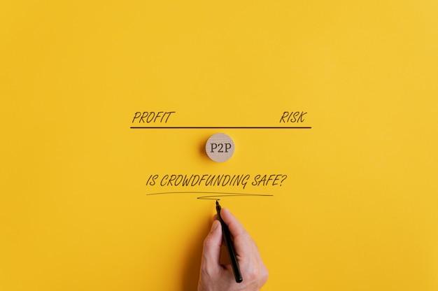 크라우드 펀딩의 안전성에 대한 개념적 이미지