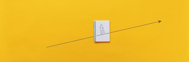 개인적인 야망, 비전 및 발전의 개념적 이미지