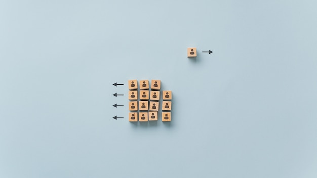 Conceptual image of uniqueness and individuality