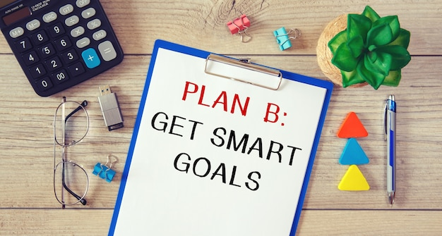 Conceptual manuscript showing get smart goals.