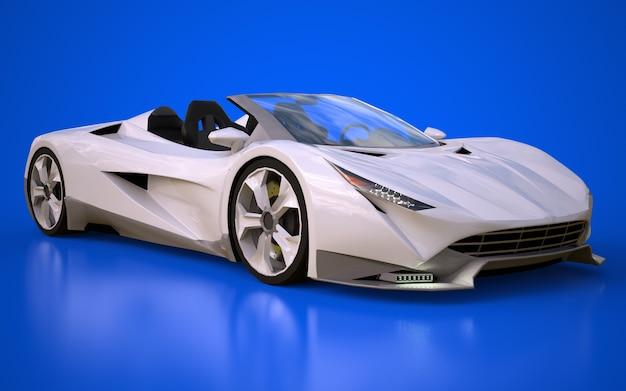 D 렌더링 운전을위한 개념적 스포츠 쿠페 형 자동차