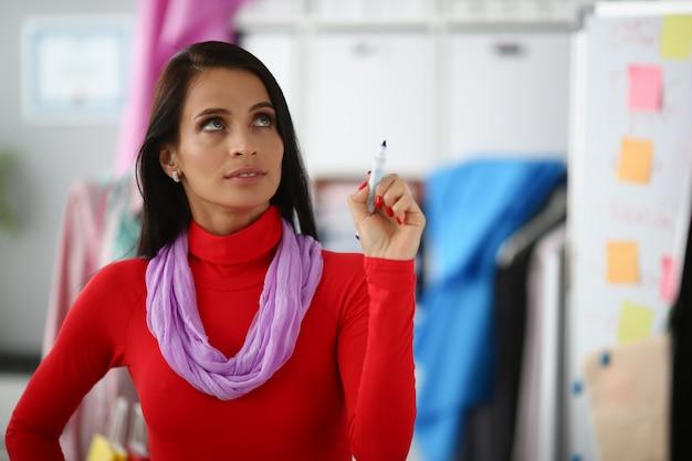 Concerned female tailor