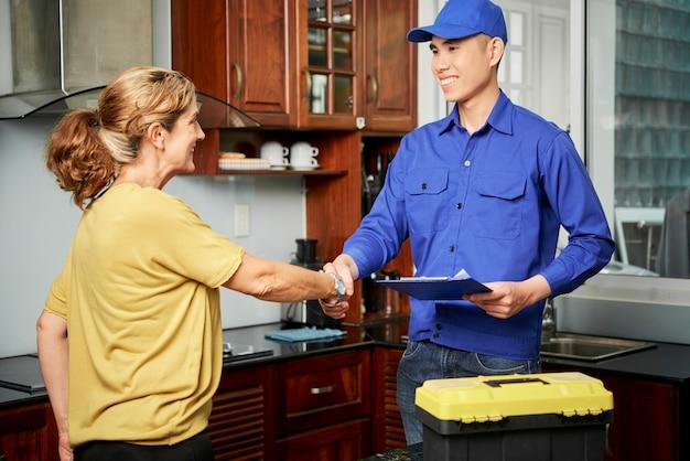 Заключение сделки с обслуживанием на дому