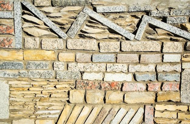 Бетонные и кирпичные стены текстуры или фон