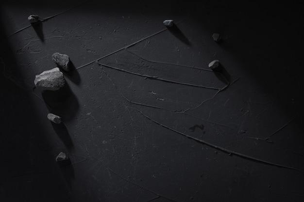 石とコンクリートの黒。