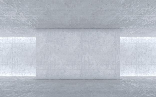 콘크리트 빈 공간 벽. 추상적 인 건축 벽. 3d 렌더링